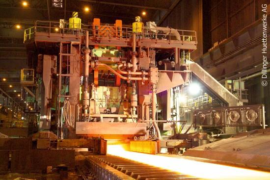 Four-high rolling mill, © Dillinger Hüttenwerke AG.