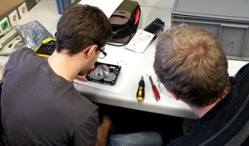 Zerlegen einer Festplatte