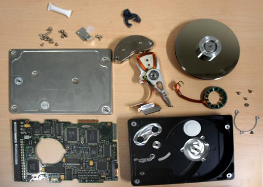 Innenleben einer Festplatte